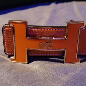 Hermes orange belt with